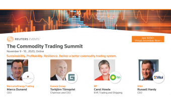 Gunvor, Vitol and Mercuria CEOs confirmed at Reuters Events Flagship Commodity Trading Summit Image